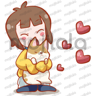 Make your daily conversation more cheerful with this sticker package of Lily and her cat! Enjoy everyday!