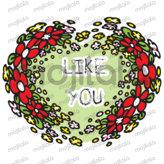 so many kind of heart shape flower with greeting card