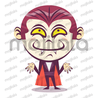 Emoji happy Dracula , to have a fun Halloween