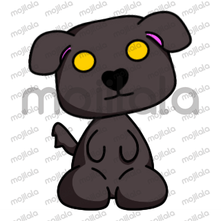 Puppy sticker set! Cute puppy sharing his emotions with you. Pup emoticon. :)