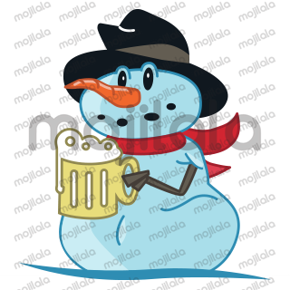 A collection of 20 snowman emoji for a new winter season spirit