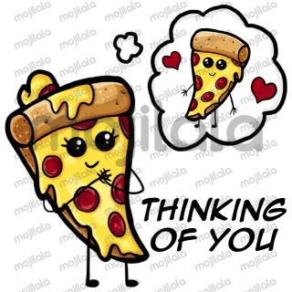 Love + pizza. There isn't a romance purest than that.