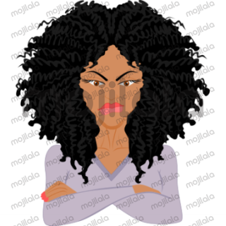 Curlmojis - Black is here for the curl enthusiasts with black hair.