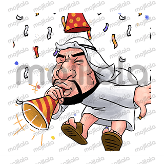 A sense of humor makes a man handsome. You can use this stickers and makes you more handsome with Arabian style. Trust me.