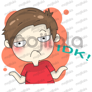 Ading Millennial Guy's Cute Stickers