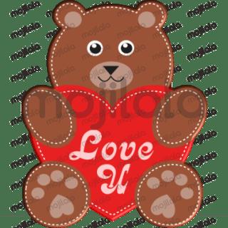 Cool 3D love-themed sticker pack!