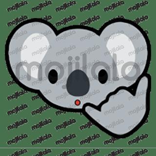 80 emojis of cute little koala! :) Have fun with them!