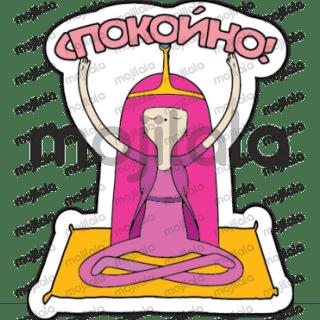 Стикеры из мультфильма Время приключений