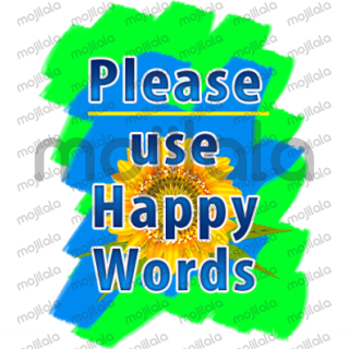 Cute nice word stickers