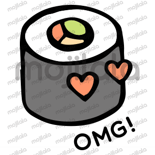 Cute & Kawaii sushi stickers with small quotes. For all sushi lovers & addicts!