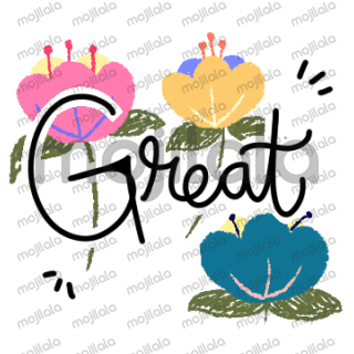 The world with flower sticker to make your chat looks Aesthetic