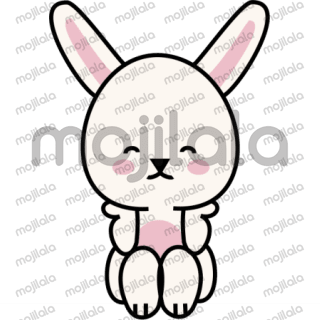 Cute Easter stickers about a white bunny and a little chick.