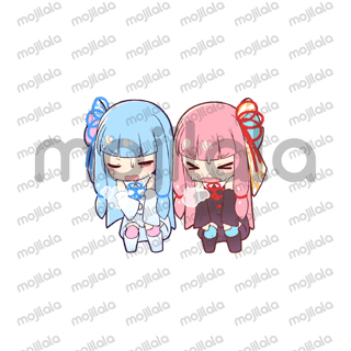 The twin sisters [KOTONOHA SISTERS] are now available on LINE stamp! Enjoy your communications using various sticker of [AKANE]and [AOI]!