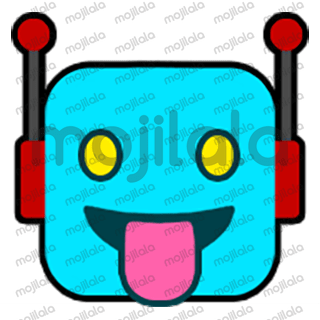 80 emojis of cute little robot! :) Have fun with them!