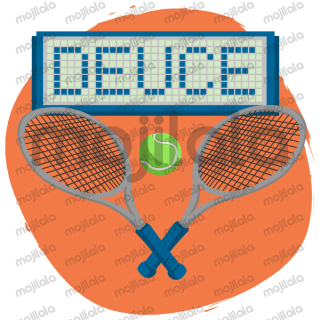 21 stickers related to tennis...
