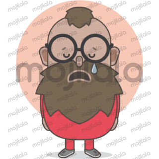 Let me introduce you to THE LITTLE BEARDMAN. They are part of my sticker set for free messenger apps