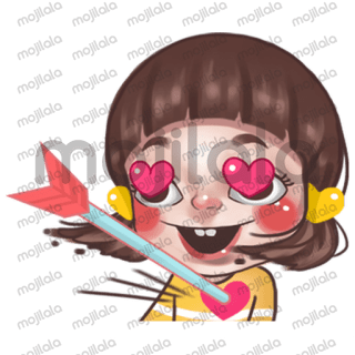 "Juno ""In love "" series. Let sent lovely sticker to people you loved."