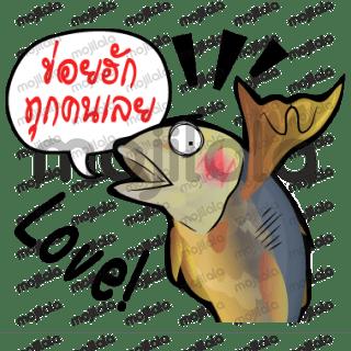 Fried Tuna cartoon Thai style use Isan Thai language/English language to communication.