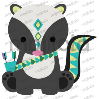 Cute and colorful tribal-themed animals!