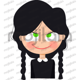 wednesday addams character stickers full of madness and evil