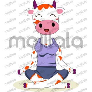 The cow that runs on soy protein, yoga poses & irrational thoughts!