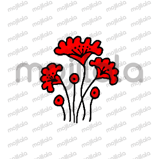 all flowers in red