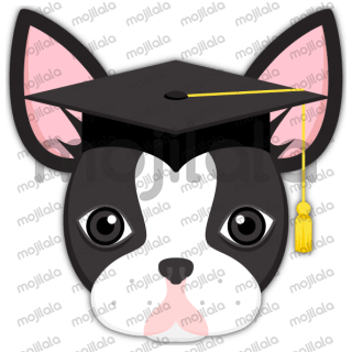 Black Boston Bull Terrier stickers. The cutest dog ever!