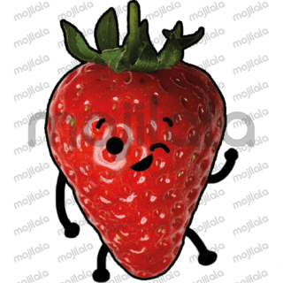 Cute strawberry pack of stickers.