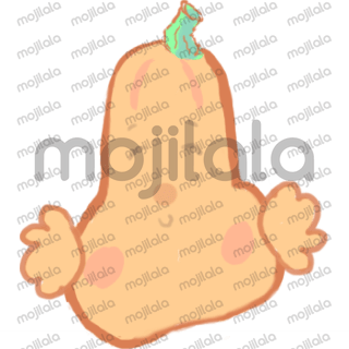 In honor of fall- butternut squash stickers!