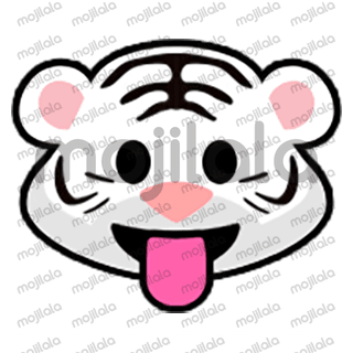 80 emojis of cute little white tiger! :) Have fun with them!