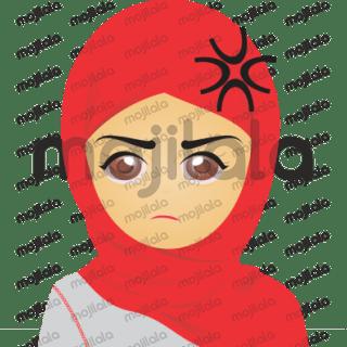 Sticker Hijabers Cantik, Lucu, Menggemaskan.