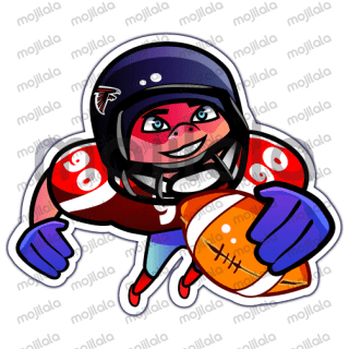 American Football Stickers bring enjoy and fun to your messages.