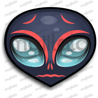 Upi (An Alien) unique and very emotional set of Stickers and Emoji.