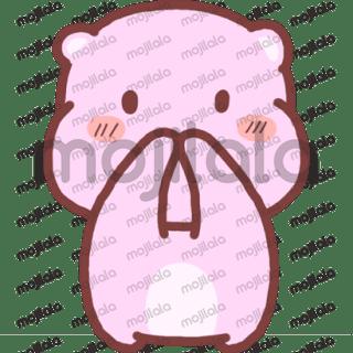 Cute chubby pink bear