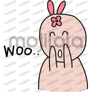 Cute and funny rabbit. Let Bunny add more fun to your chat.