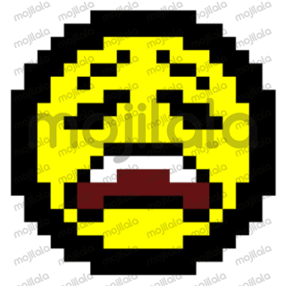 Sticker pack of expressions in 8Bit design, version 2