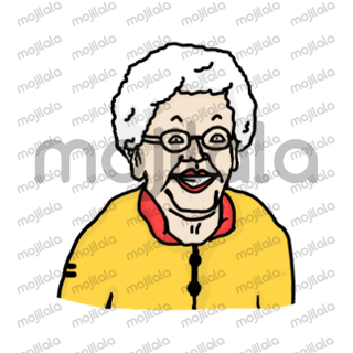 granny is feelin' the vibes
