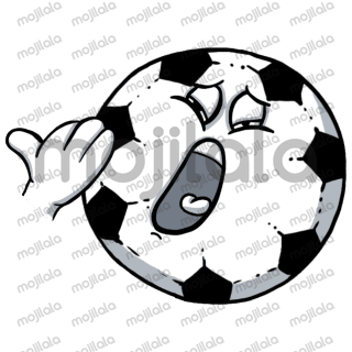 Icon footballs with funny expressions humanized