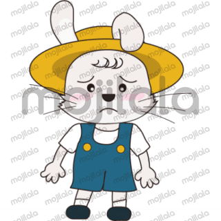 These are Stickers of a cutie bunny wearing hat with different emotions