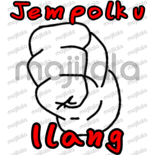 Stickers that depict the hand and everyday language in East Java more precisely in the city of Malang