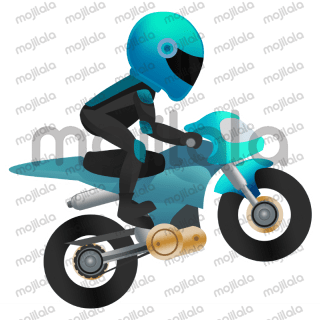 A selection of stickers which is perfect for cool dudes who like motorbikes.