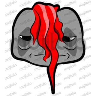 punky emoji charater