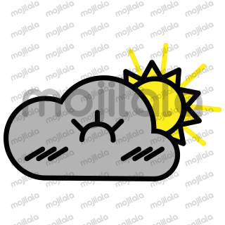 Claud is a cute fluffy cloud, showing its weather mood.