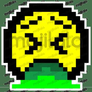 Sticker pack of expressions in 8Bit design, version 2
