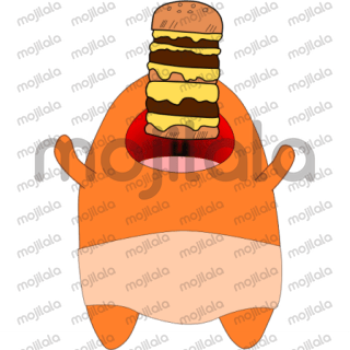 cute adorable orange charakter for all