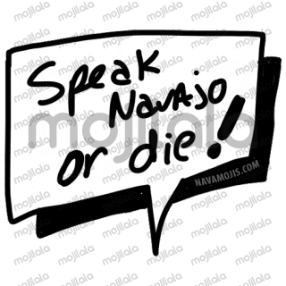 Say something cute in Navajo with these word bubbles!