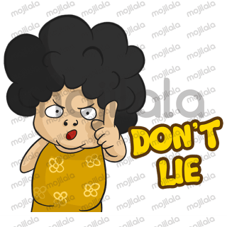 Santi is a character of mothers with the characteristic of her kribo hair and by showing her present expressions we can certainly use in everyday chats.