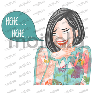 Sarah itu Cewek Hits yang cantik, elegan, kekinian & sedikit jones. Buruan koleksi Sticker ini, kalau kamu ngaku Hits kaya Sarah, nggak beli nggak gaul. :P