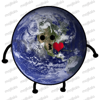 Cute Earth stickers pack.
