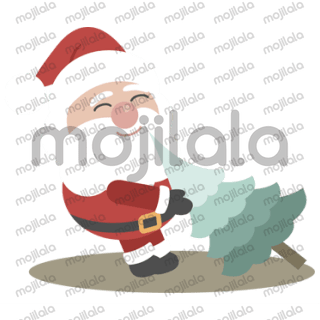 Lets cerebrate Christmas with a set of very cute Boom Tiny Santa stickers.